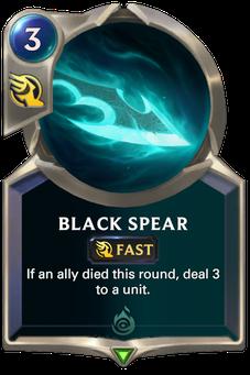 Legends of Runeterra Black Spear Card
