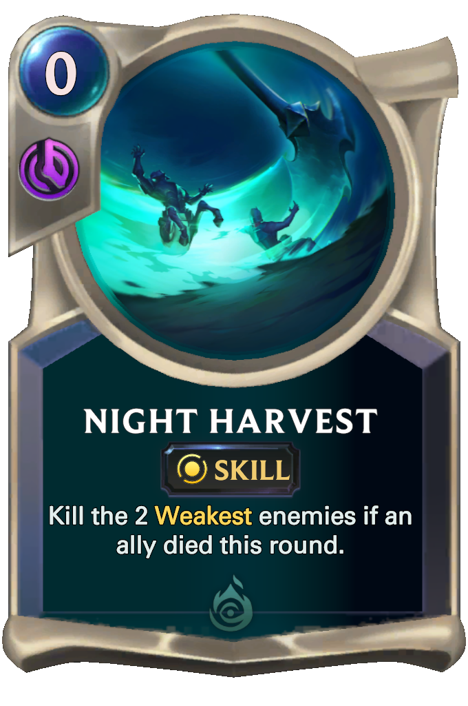 Night Harvest Card