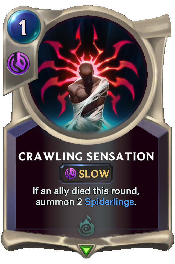 Legends of Runeterra Crawling Sensation Card