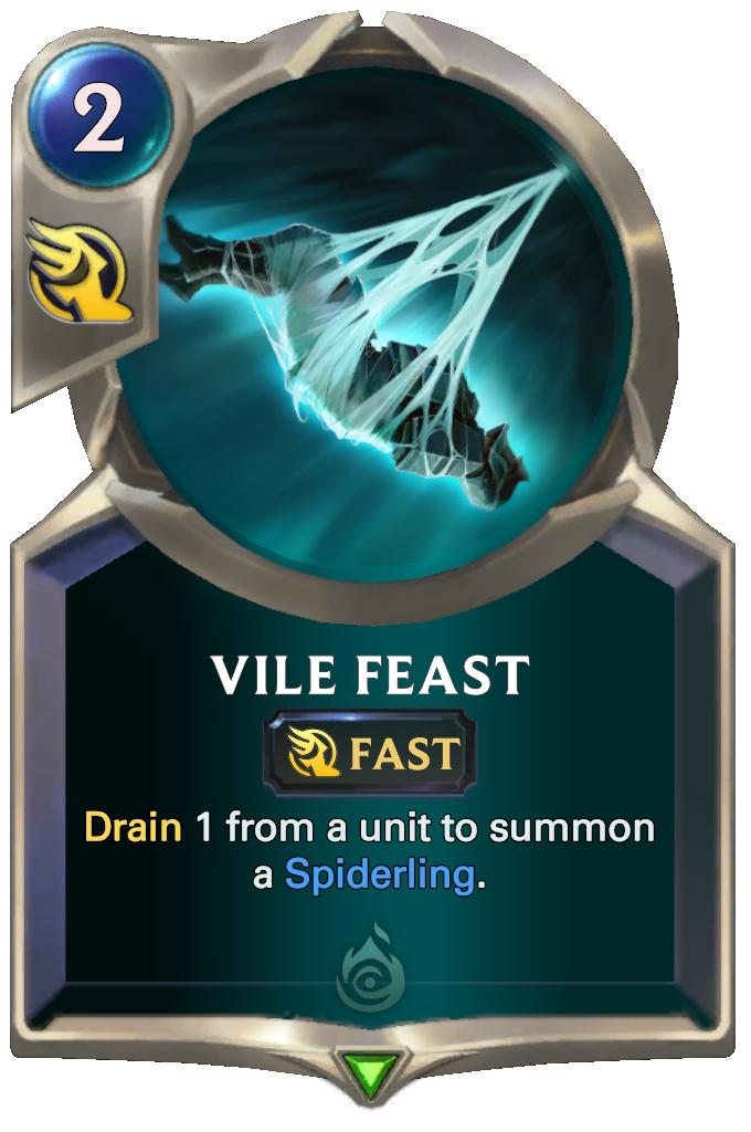 Legends of Runeterra Vile Feast Card
