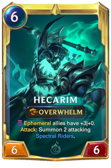 Legends of Runeterra Hecarim Card