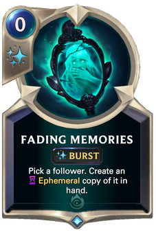 Fading Memories Card Image