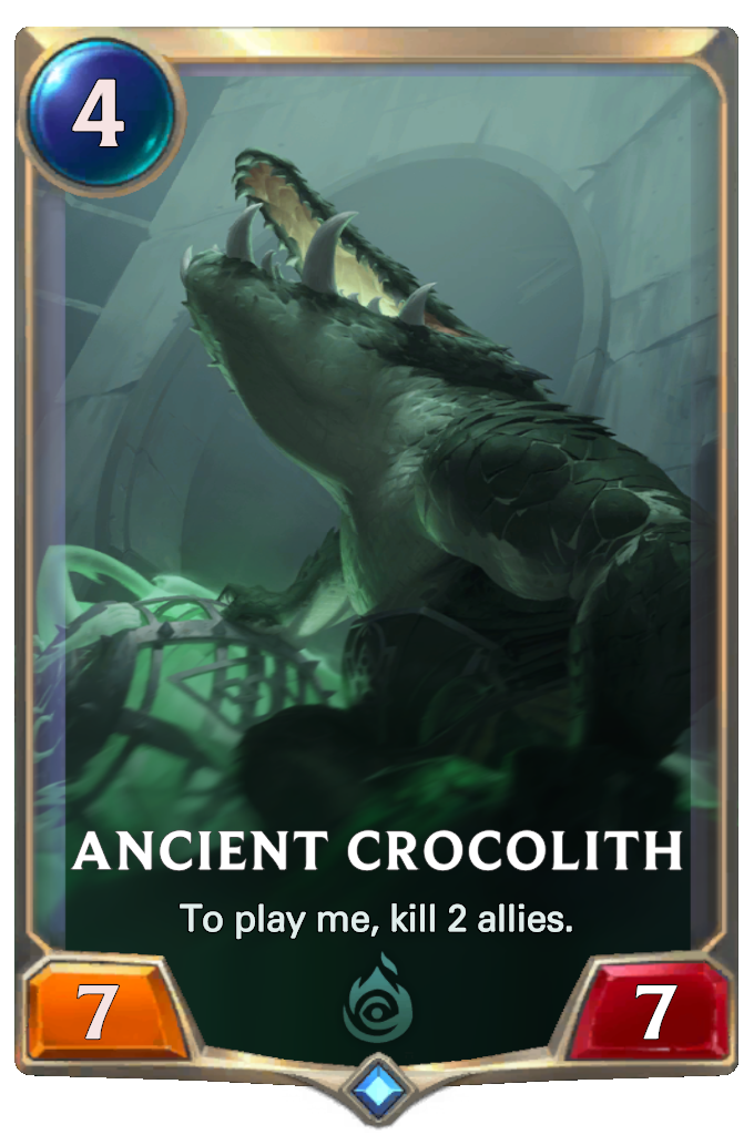 Legends of Runeterra Ancient Crocolith Card