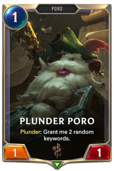 Legends of Runeterra Plunder Poro Card