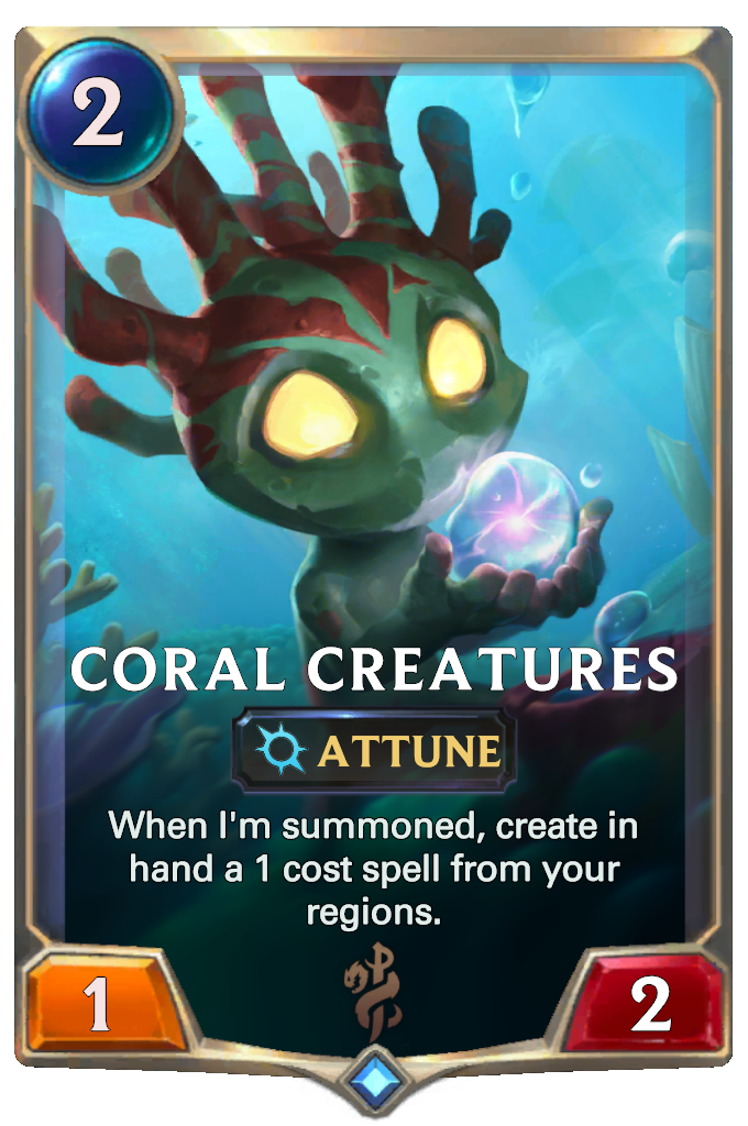 Legends of Runeterra Coral Creatures Card
