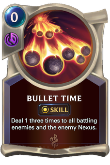 Bullet Time Card