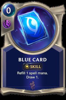 Legends of Runeterra Blue Card Card