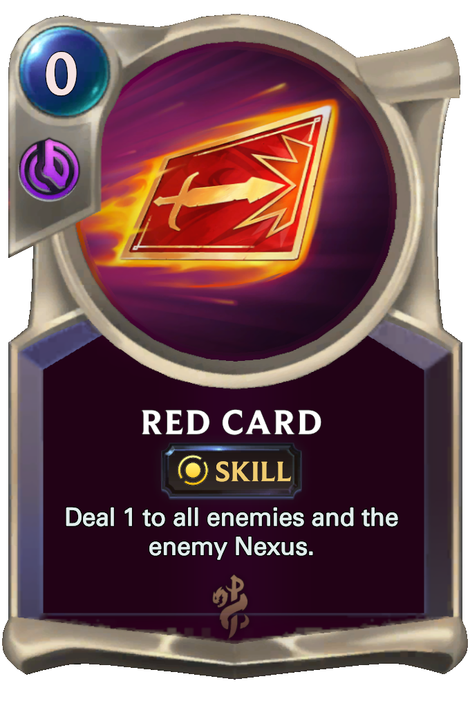 Legends of Runeterra Red Card Card