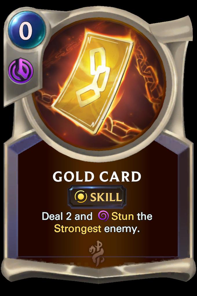 Gold Card Card