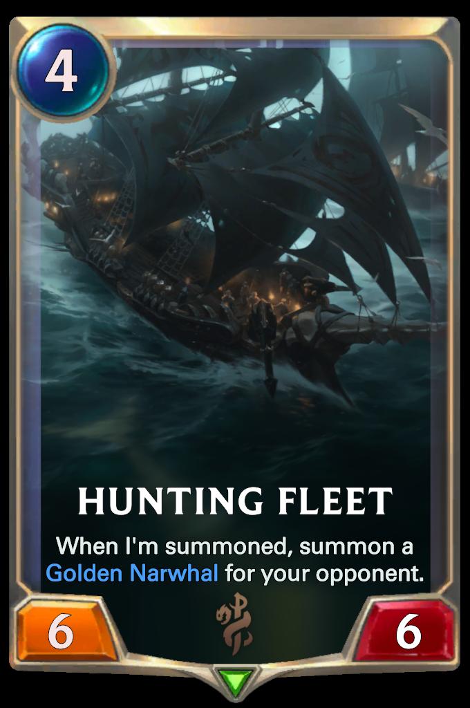 Legends of Runeterra Hunting Fleet Card