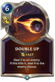 Legends of Runeterra Double Up Card