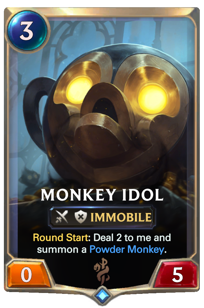Legends of Runeterra Monkey Idol Card