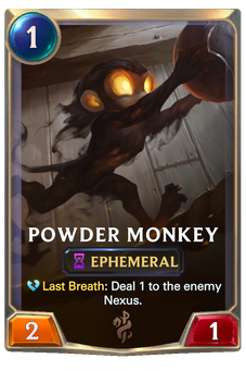 Powder Monkey Card