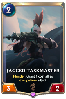 Legends of Runeterra Jagged Taskmaster Card