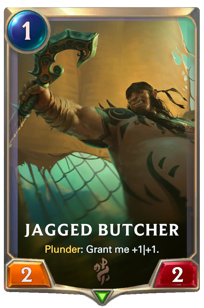 Legends of Runeterra Jagged Butcher Card