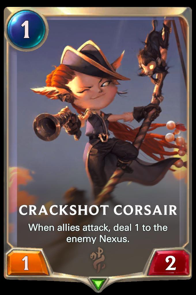 Legends of Runeterra Crackshot Corsair Card