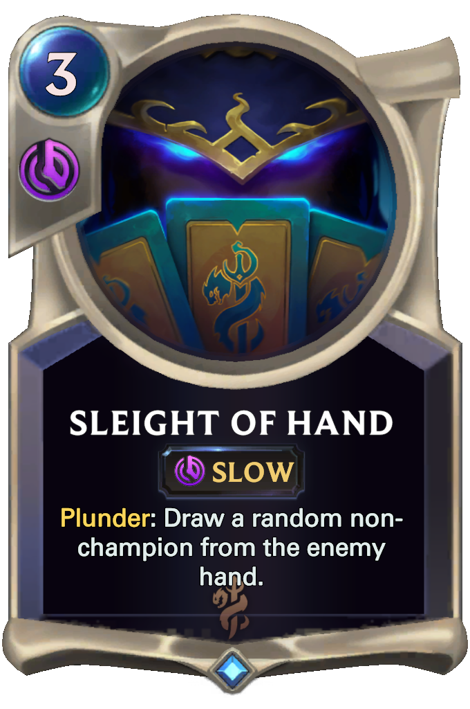 Legends of Runeterra Sleight of Hand Card