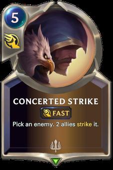 Legends of Runeterra Concerted Strike Card