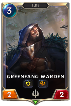 Legends of Runeterra Greenfang Warden Card