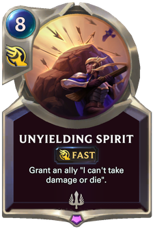 Legends of Runeterra Unyielding Spirit Card