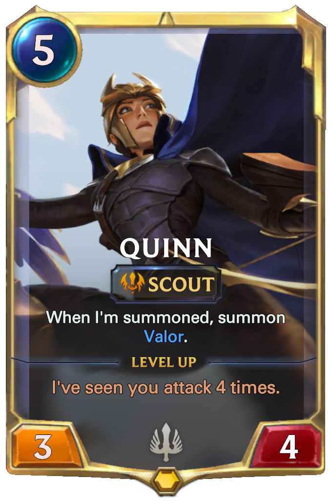 Legends of Runeterra Quinn Card