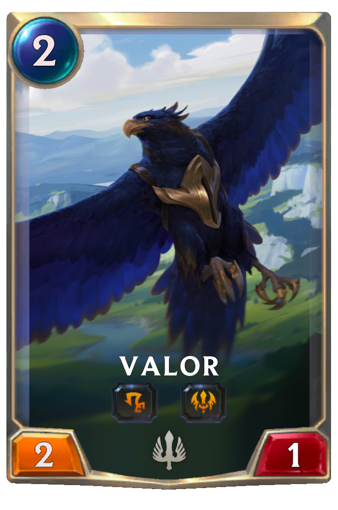 Legends of Runeterra Valor Card