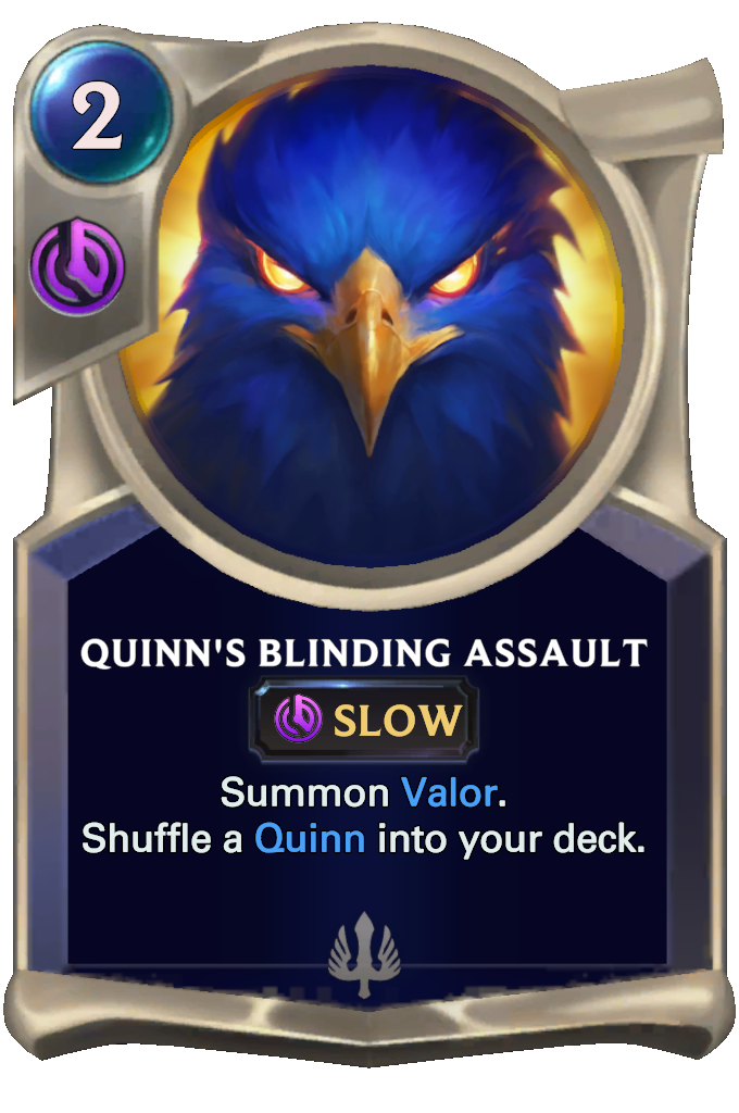 Legends of Runeterra Quinn's Blinding Assault Card