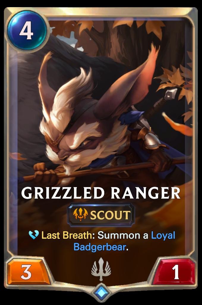 Legends of Runeterra Grizzled Ranger Card