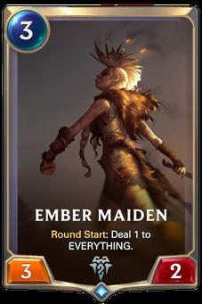 Legends of Runeterra Ember Maiden Card