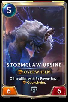Stormclaw Ursine Card