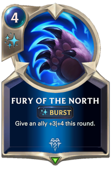 Legends of Runeterra Fury of the North Card