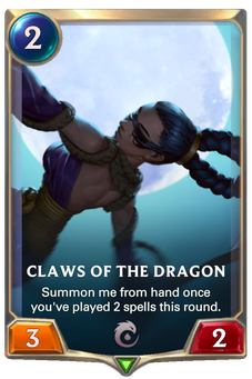 Legends of Runeterra Claws of the Dragon Card