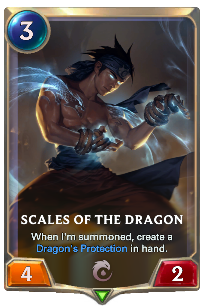 Legends of Runeterra Scales of the Dragon Card