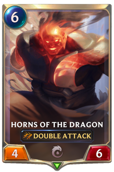 Legends of Runeterra Horns of the Dragon Card