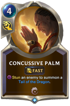 Legends of Runeterra Concussive Palm Card