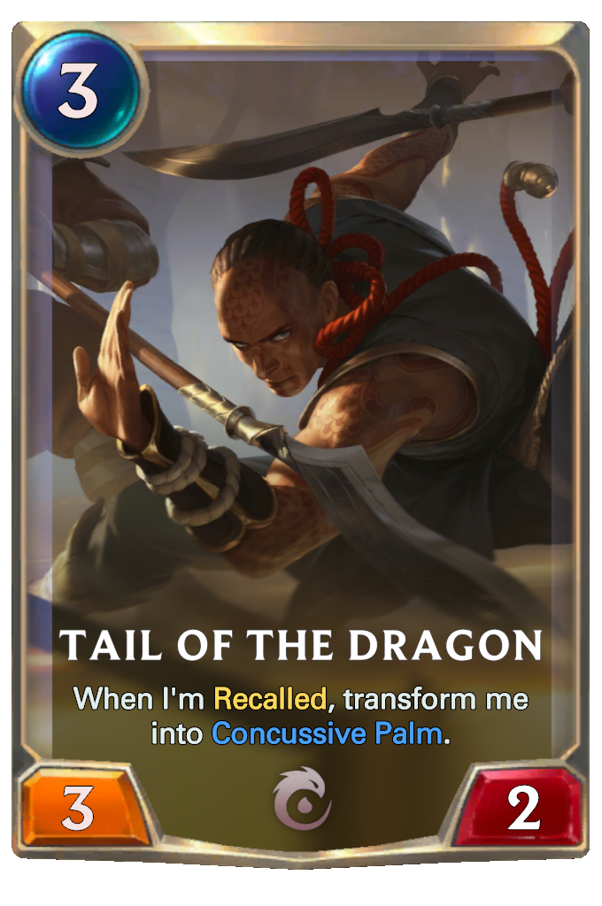Legends of Runeterra Tail of the Dragon Card