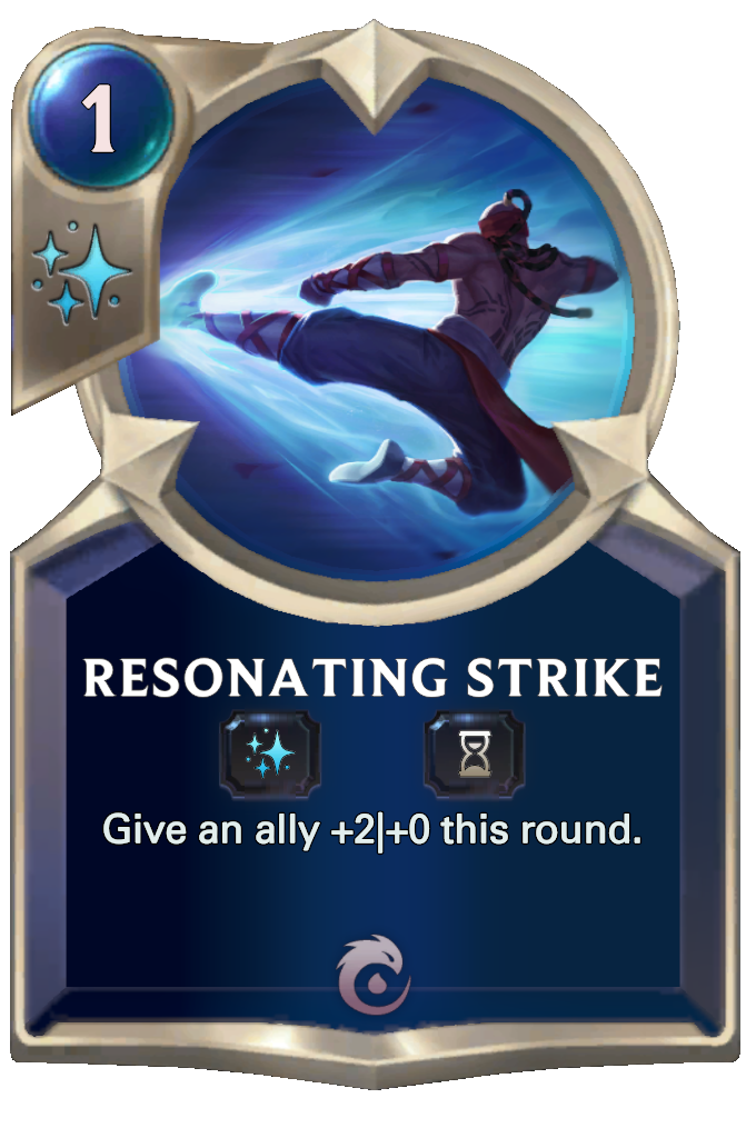 Legends of Runeterra Resonating Strike Card