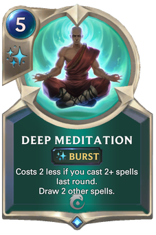 Deep Meditation Card Image