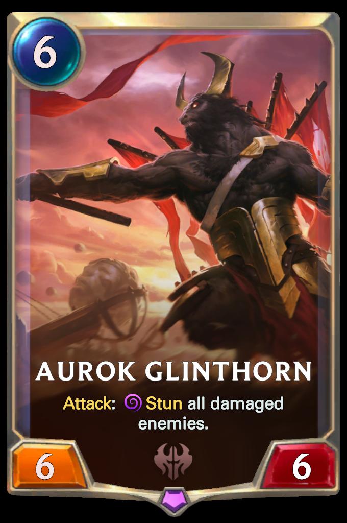 Legends of Runeterra Aurok Glinthorn  Card