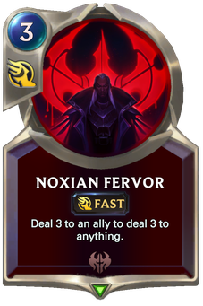 Legends of Runeterra Noxian Fervor Card