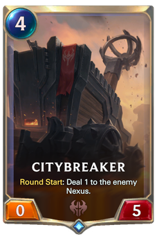 Legends of Runeterra Citybreaker Card