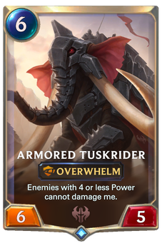 Legends of Runeterra Armored Tuskrider Card