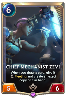 Legends of Runeterra Chief Mechanist Zevi Card