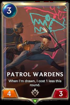 Legends of Runeterra Patrol Wardens Card