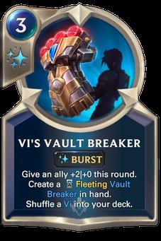 Legends of Runeterra Vi's Vault Breaker Card