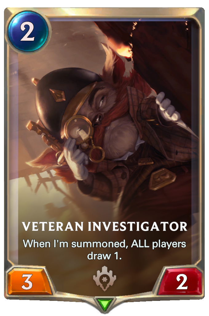 Legends of Runeterra Veteran Investigator Card