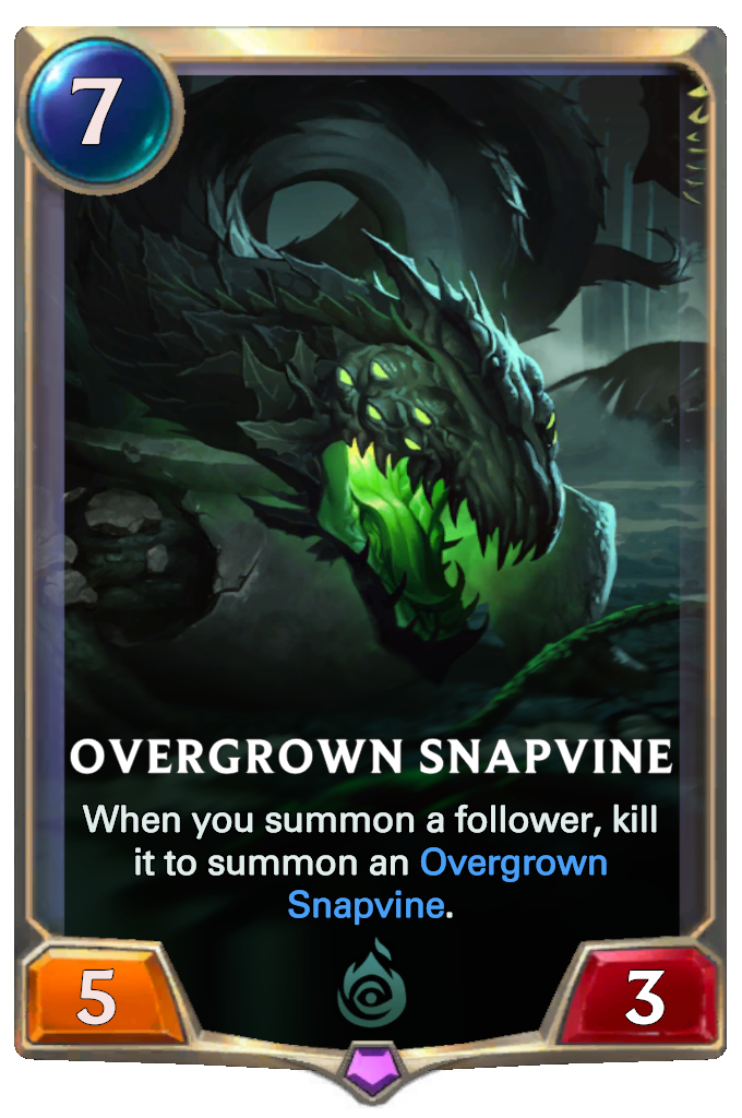 Legends of Runeterra Overgrown Snapvine Card