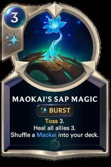 Legends of Runeterra Maokai's Sap Magic Card