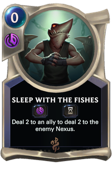 Sleep with the Fishes Card