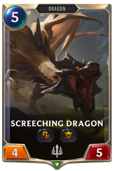 Legends of Runeterra Screeching Dragon Card